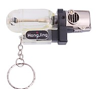 Mini Windproof Butane Jet Torch Lighter - Black + Transparent