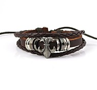Retro Leather Rope Flexible Bracelet(1pc)