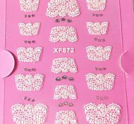 3D Strass Französisch Lace Nail Art Sticker XF NO.872