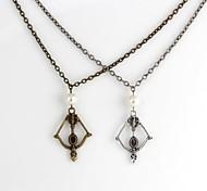 Moda The Hunger Games arco e flecha Colar Bronze