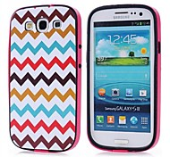 For Samsung Galaxy Case Pattern Case Back Cover Case Lines / Waves PC Samsung S3