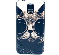 Glas-Katze-Muster Hard Case für das Samsung Galaxy i9600 S5