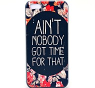 Flower and Nobody Get Time Pattern Hard Case for iPhone 5C
