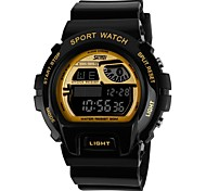 Men's Fashion Sport Style Multi-Function LCD Digital Rubber Band Wrist Watch (Assorted Colors)