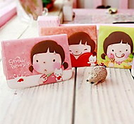 Cartoon Little Girl Pattern Card Case (zufällige Farbe)