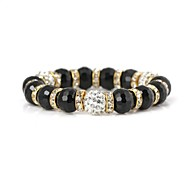 Filled Diamond Crystal Pattern Metallic Flexible Bracelet(1pc)