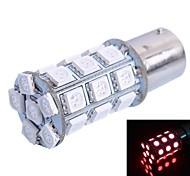 1156 6W 540lm 27x5050 SMD LED vermelho para o carro luz de freio (DC12V, 1pcs)