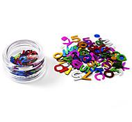 80PCS Glittle Letters Design Nail Art Decorations