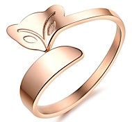 The New Tide Fashion Accessories Ms Fox Rose Gold Plated Ring