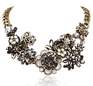 JANE STONE Fancy Crystal Pendant Necklace for Women