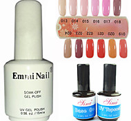 2PCS 14ml UV Top Coat Gel&Base Gel+1PCS 15ml UV Color Gel 12 Assorted Color NO.13-24