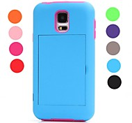 Rugged Combo Credit Card Slot Stand Case Cover Full Body for Samsung Galaxy S5 i9600