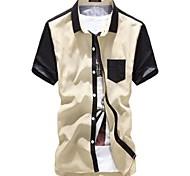 Contrasto shirt a maniche corte di colore Polka Dots Uomo