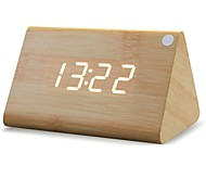 Shibaojia ® LED Clock Wooden Clock Sound Control