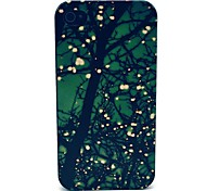 Tree Flower Star Pattern PC Hard Case for iPhone 4/4S