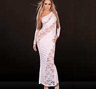 Ragazza Elegante senza spalline & Lace Uniform sera del vestito da partito sexy delle donne