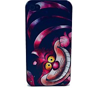 Pink Pattern Cat Caso duro PC para iPhone 4/4S