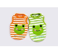 Smiling Face Frog Vest for Pets Dogs(Assorted Colors,Sizes)