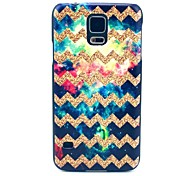 Golden Wave Pattern Hard Case für das Samsung Galaxy i9600 S5