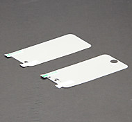 Super HD Clear Screen Front and Back Protector Guard with Cleaning Cloth for iPhone 5/5S