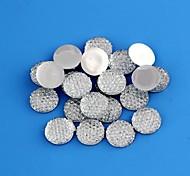 Unisex Round Fabric Surface Plastic Beads