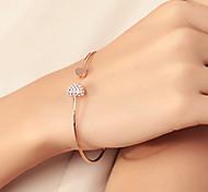 shixin® europäischen Herz 18cm Frauengoldlegierungsarmband (1 PC)
