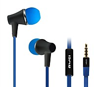 Fashion AWei 300i 3.5mm Plug In-Ear Aluminum Alloy Super Bass  Microphone Earphones-(Black/White)