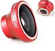 Macro Angular 3-em-um Magnetic Ampla e 180 ° Fish Eye Kit Set para iPhone 5/4/iPad / celulares