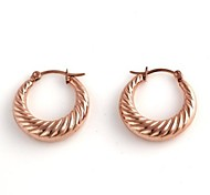 Screw-thread Pattern Metallic Earring (1pair)
