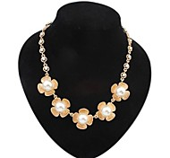 Clover Pearl Statement Necklace