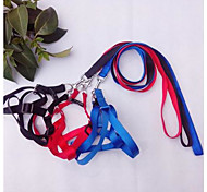 Cat / Dog Harness / Leash Adjustable/Retractable Red / Black / Blue Nylon