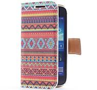 Aztec Tribal Style Ledertasche mit Kartensteckplatz und stehen für Samsung Galaxy Ace S7270 3 / S7275 / S7272