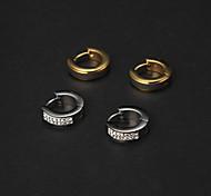 Cheap Men's Stainless Steel Huggie Earrings(2 Pairs)