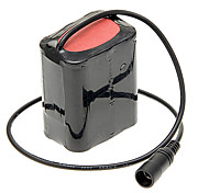 2-in-1 4500mAh Battery Pack de vélos w / Power Adapter Kit Chargeur - Noir