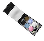 6 Paleta de Sombras de Ojos Húmedo Paleta de sombra de ojos Polvo Normal