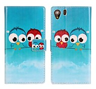 PU Leather Owl Pattern Pattern Case for Sony Xperia Z1 L39H