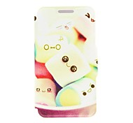 Kinston Sweet Cotton Candy Pattern PU Leather Full Body Case with Stand for Huawei P6