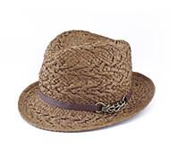 Men/Women Other/Straw Fedora Hat , Casual Summer
