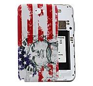 USA-Flagge mit Freiheitsstatue Muster PC-Fest Akku Rückseite Gehäuse für Samsung Galaxy Note N7100 2