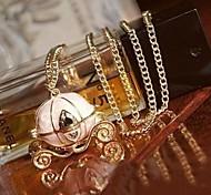 Cinderella's Magic Pumpkin Car Sweater Chain Pendant Necklace