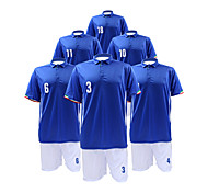 Men's Short Sleeves Soccer Suit Blue & White