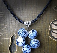 Fashion Blue And White Porcelain Necklace