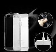 TPU doux poussière transparent boîtier étanche pour iphone 5/5 ans