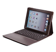 tastiera bluetooth w / pu custodia in pelle per ipad 4 del ipad 3 del ipad 2 (marrone)