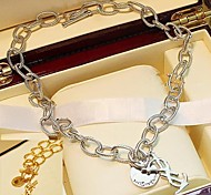 Fashion Letter-Muster Metallic-Halskette (1 St.)