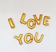 14 Inch Ouro e Prata Carta Balões Foil AZ para festa de aniversário de casamento