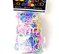 600PCS Loom Bands Style Fashion Loom Rubber Band(24pcs Hook)