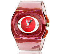 Women's Simple Style Plastic Band Quartz Bracelet Watch (Assorted Colors)