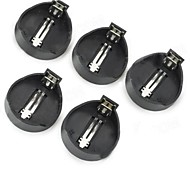 CR2025/CR2032 3V Button Battery Box (5 PCS) - Black + Silver