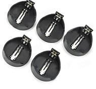 CR2025/CR2032 3V кнопки батареи Box (5 шт) - черный + серебро